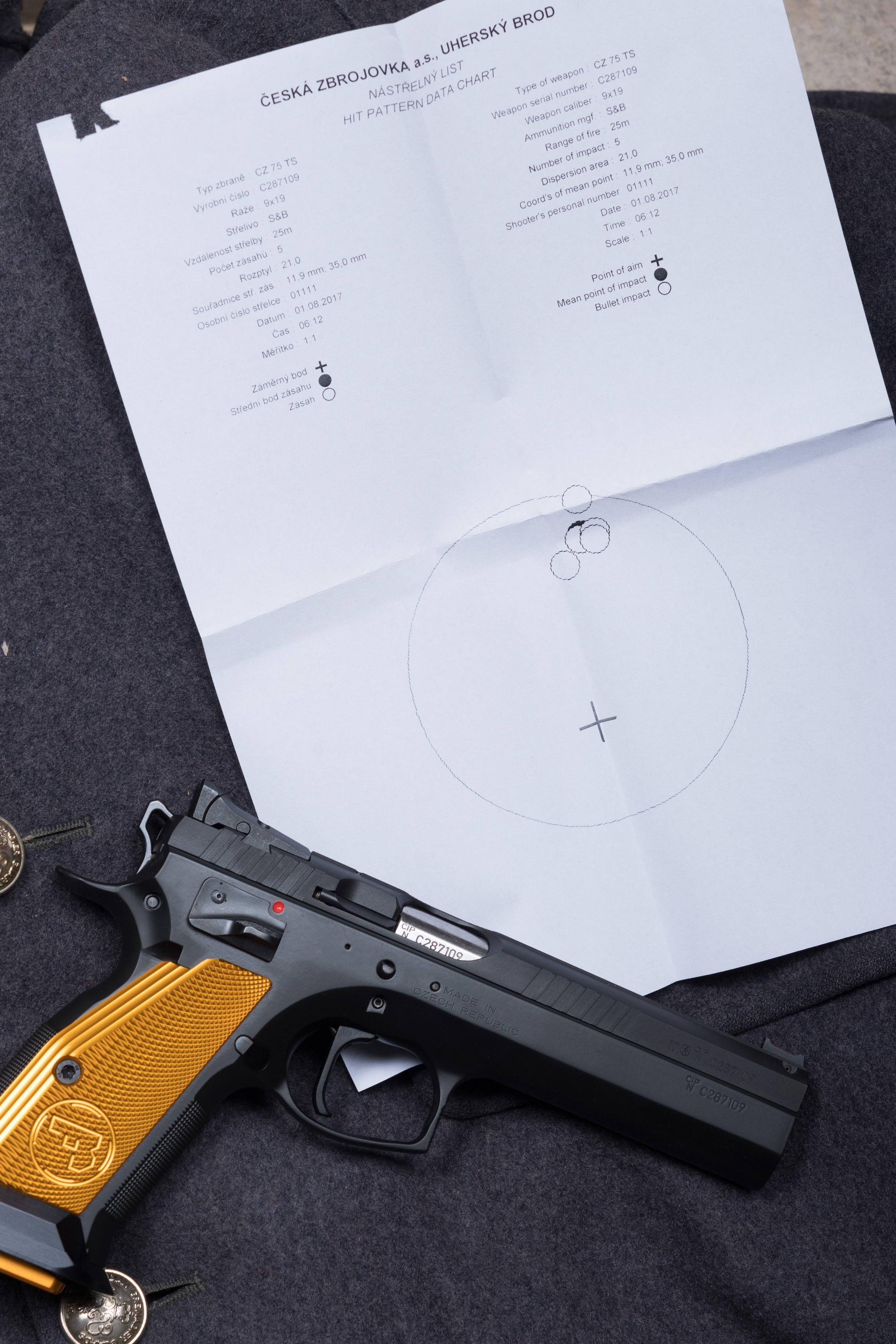CZ 75 Tactical Sport Orange Pistol 9mm
