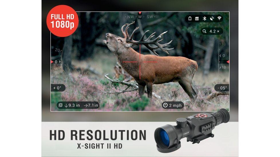 ATN X-Sight-II 3-14x Day/Night Hunting Scope w/ Video Rec ...