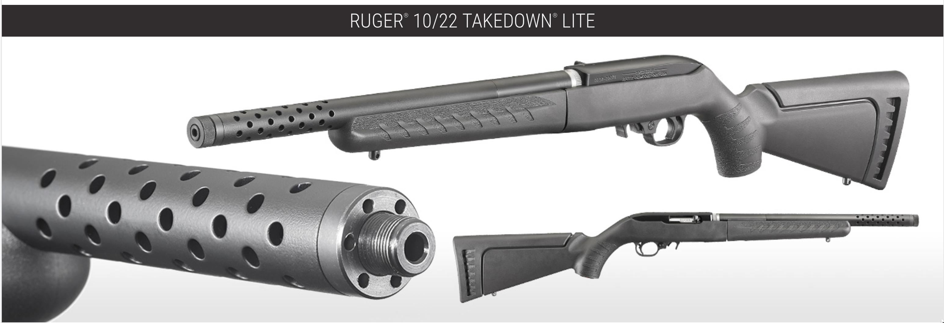 Ruger 10 22 Takedown Lite 22 Lr Semi Automatic Rimfire