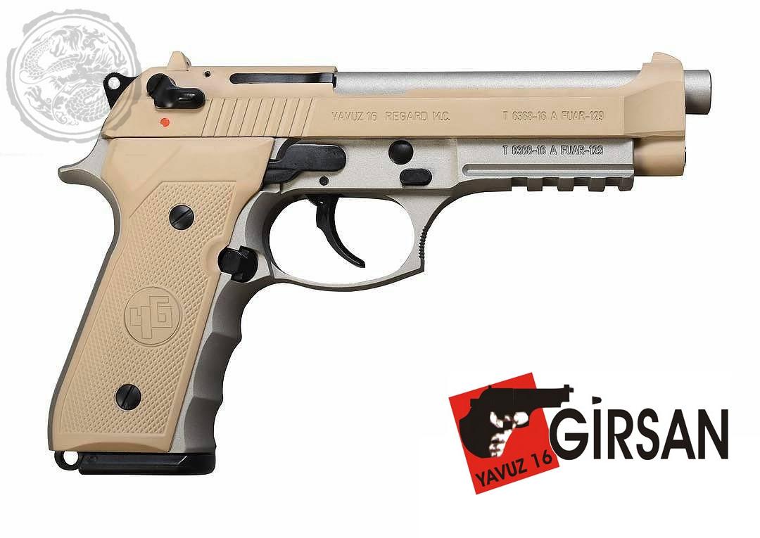 Girsan Regard MC Semi-Auto Pistol Desert Sand/Stainless 9mm