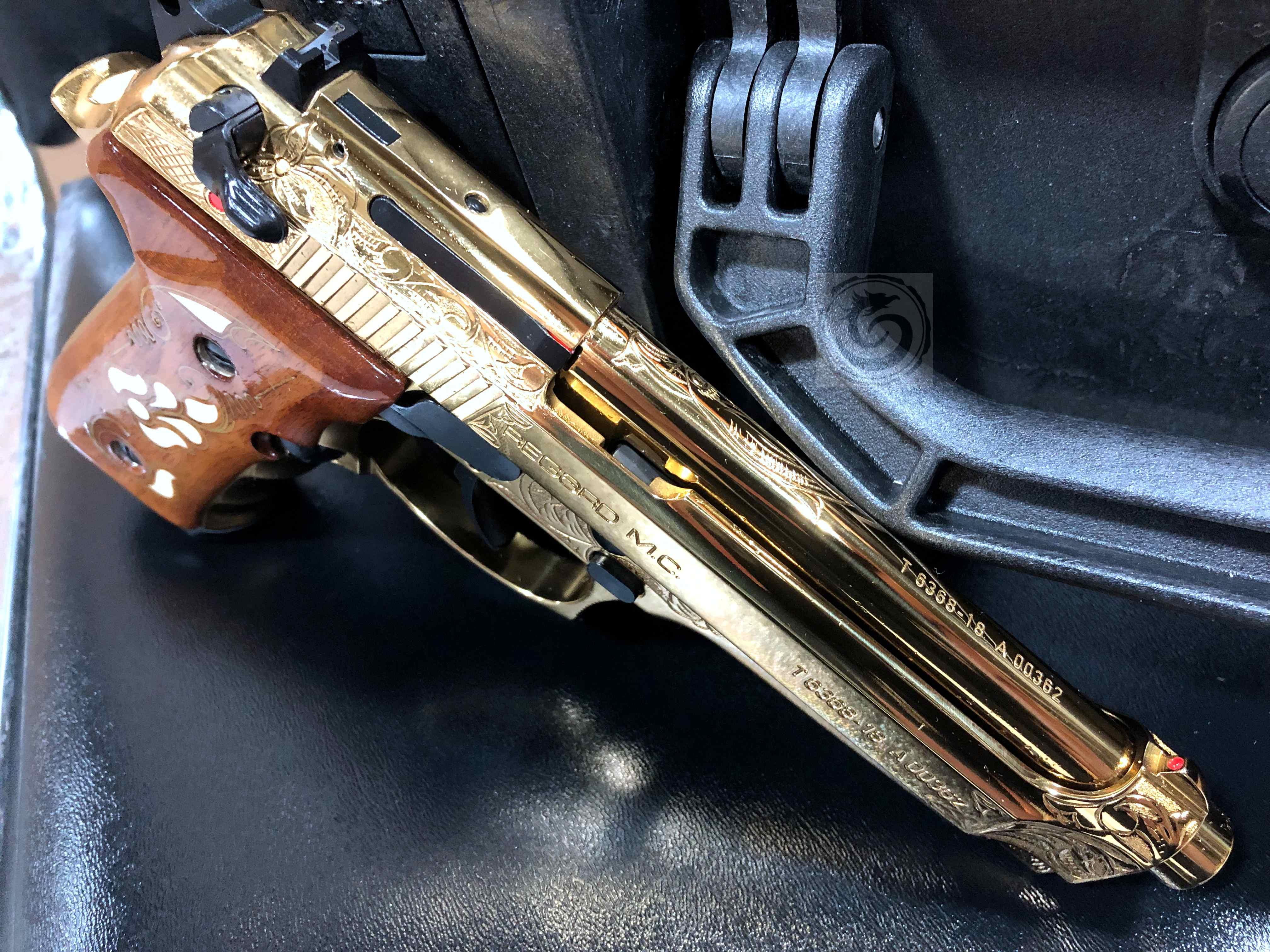 Girsan Regard MC 9mm Gold Plated W/ Engraving